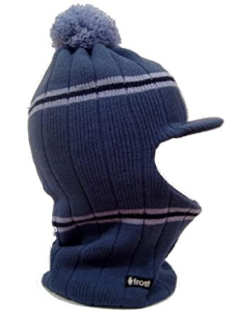 Frost Hats Winter Boy's BLUE Hat Balaclava Ski Mask M-223 Knit Frost Hats