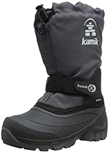 Kamik Snoday Insulated Winter Boot (Toddler/Little Kid/Big Kid), Charcoal, 13 M US Little Kid