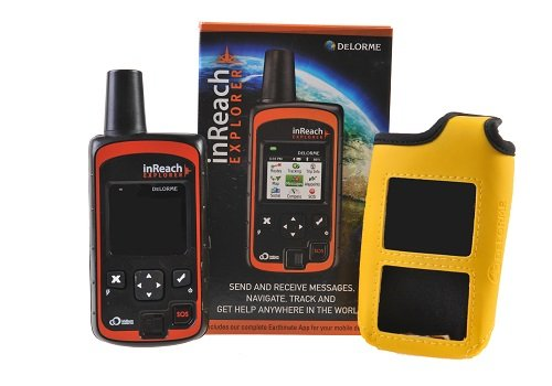 DeLorme inReach Explorer Communicateur Satellitaire Bidirectionnelle avec Navigation intégré et Étui de Flottaison JAUNE par GTC