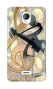 CimaCase Music Note Designer 3D Printed Case Cover For Micromax Unite 2 A106