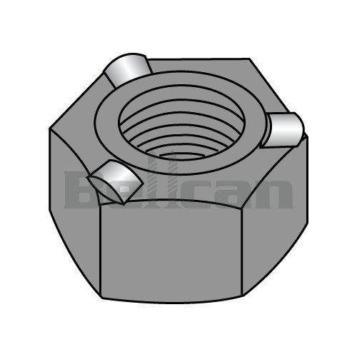 Bellcan BC-14NWHP3 Hex WELD NUT WITH 3 PROJECTIONS HIGH PILOT HEIGHT STEEL PLAIN 1/4-20 (Box of 1000)