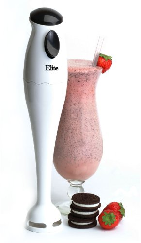 Elite Cuisine EHB-1000X Maxi-Matic 150 Watt Hand Blender with One Touch Button, White (Elite Maximatic Blender compare prices)