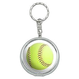 Portable Travel Size Pocket Purse Ashtray Keychain Sports and Hobbies - Softball