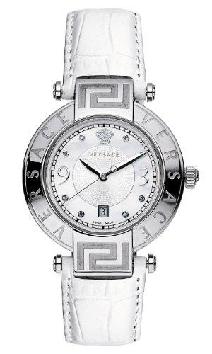 Versace - 68Q99SD498 S001 - Montre Mixte - Quartz Analogique - Bracelet Cuir Blanc