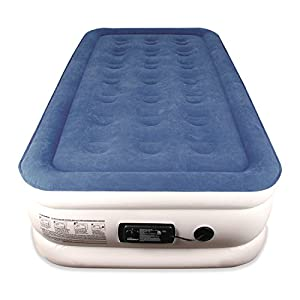Twin Sized SoundAsleep Dream Series Air Mattress with ComfortCoil Technology & Internal High Capacity Pump
