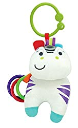 Winfun Zippy Zebra Hand Rattle, Multi Color
