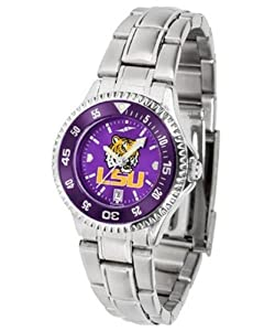 Louisiana State LSU Tigers NCAA Ladies Steel Anochrome Watch by SunTime