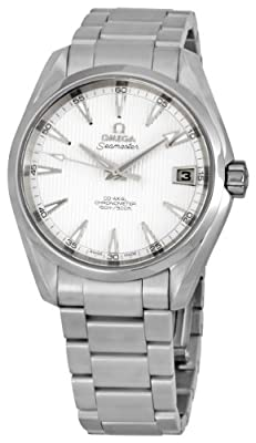 Omega Men's 231.10.39.21.02.001 Seamaster Aqua Terra Mid Size Chronometer Silver Dial Watch by Omega