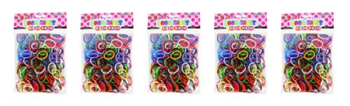 Loom Bands Assorted Colors Bands, 5-Pack
