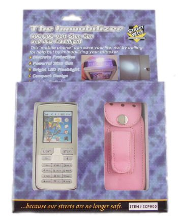 Streetwise Immobilizer 900k Cell Phone Stun Gun &#8211; Pink