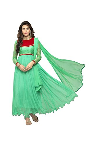 Suitsvilla Turquoise Latest Designer Frock Style Anarkali Suits