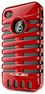 Musubo Retro MU11003RD Case for iPhone 4/4S (Red)