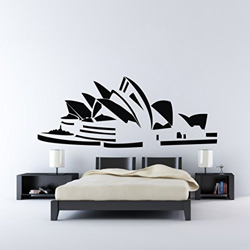 Wandsticker K¨¹che Wandbilder 42x106cm Sydney Opera House AUS country modern wall decals art sticker constrution wall sticker large size for living room