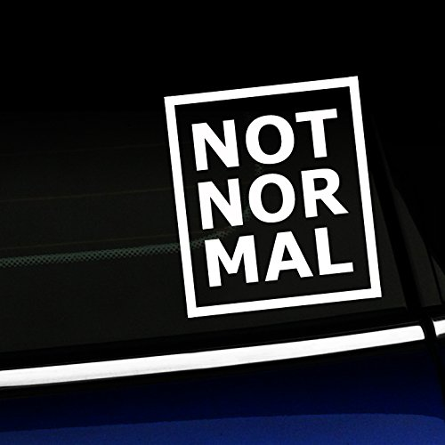 Artistic Reflection Not Normal Mini Cooper Decal White