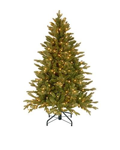 """National Tree Company 4.5' """"Feel Real"""" Avalon Spruce Medium Hinged Tree"""