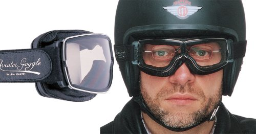Aviator Retro Pilot T2 Goggles Chrome for Spectacles