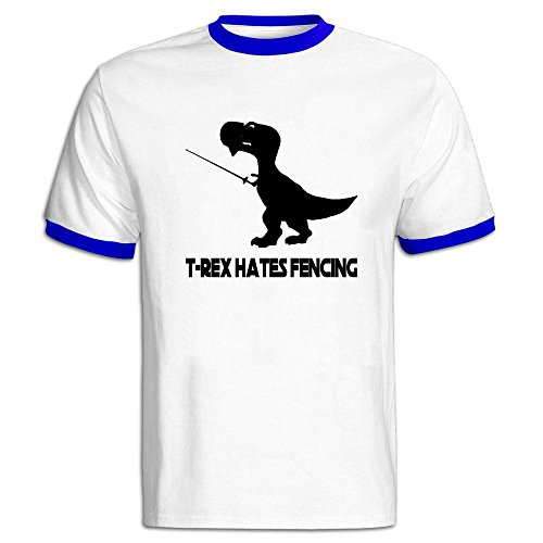 [Boys T-Rex Hates Fencing Crew Neck Short-Sleeve T Shirt] (Making A T-rex Costume)