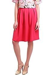 Scuba Box Pleated Fuchsia Skirt