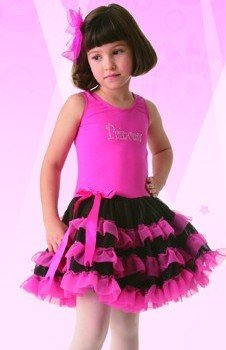 Posh Int'l New Dress Up Princess Tutu Girls Hot Pink Dance Costume