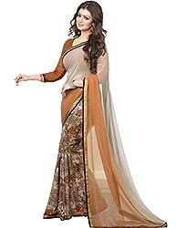 Hari Krishna sarees Self Design Bollywood Georgette Sari/F235