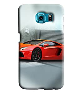 Blue Throat Red Car Printed Designer Back Cover/Case For Samsung Galaxy S6