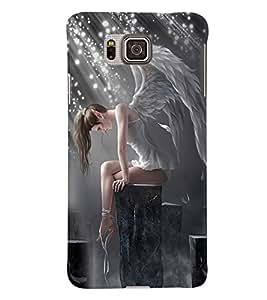 PRINTVISA Angel Girl Case Cover for Samsung Galaxy Alpha