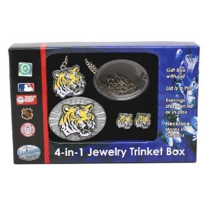 LSU Tigers 4-in-1 Jewelry Trinket Box at Amazon.com