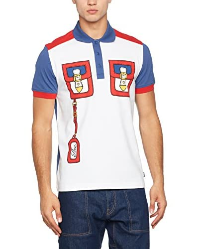 Love Moschino Polo Blanco / Rojo / Denim