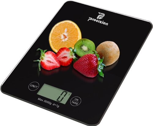 Digital Kitchen Food Scale Best Quality Electronic Accessory for Accurate and Precision Weighing in Grams Ounces Lbs or Kg Measures up to 11 Lbs. Perfect Product for Weight Watchers and Diet-conscious
