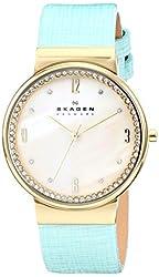 Skagen Women's SKW2166 Leonora Teal/Mother of Pearl Stainless Steel Watch