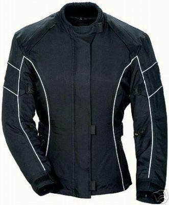 Australian Bikers Gear Ebony CE armoured vented Waterproof Ladies Motorcycle Jacket (22) - 22.0