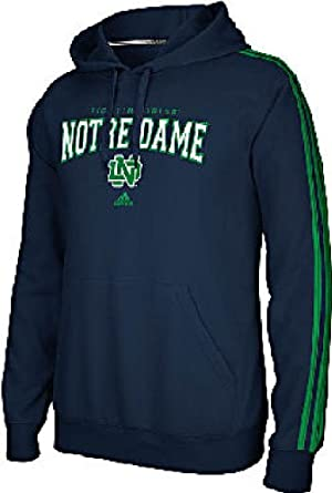 Notre Dame Fighting Irish Adidas 3 Stripe Pullover Hoody by adidas