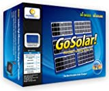 GoSolar! - 42W Portable Folding Solar Charger Kit - Charge Laptops, Phones & Batteries - Includes Li-Ion Battery, Jumper Cables, DC Inverter and 42 Watt Folding Panel - By California Solar Accessories