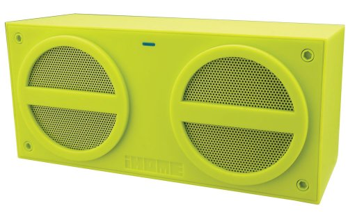 Ihome Ibn24Qc Bluetooth Rechargeable Stereo Mini Speaker, Green