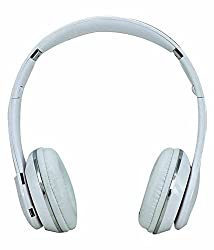 Micomy S-460 Wireless Bluetooth Headphone with Aux cable connector -White