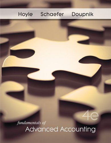 Fundamentals of Advanced Accounting, 4th Edition