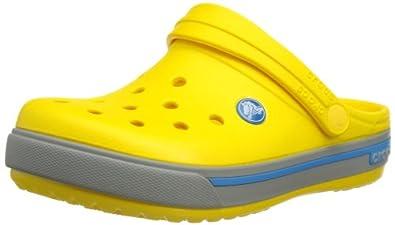 crocs Crocband II.5 Kids 12837-74Y-105, Unisex-Kinder Clogs & Pantoletten, Gelb (Yellow/Light Grey 74Y), EU 19-21 (UKC4-5)