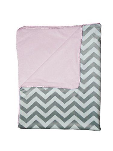 Baby Doll Minky Chevron Crib Comforter, Pink