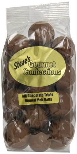 Steve's Gourmet Confections Triple Dipped Malt Balls in Milk Chocolate, 12 Ounce (Chocolate Malt Balls compare prices)