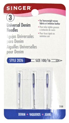 Best Price! Singer Denim Machine Needles, Size 100/16, 3-Pack