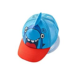 LINKEY Kids Trucker Hat Shark Pattern Adjustable Snapback Mesh Baseball Cap Size 50-52