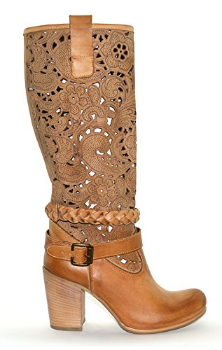 Shoesbooking collection - Cod. SB-1601-Q, cuoio, scarpe alla moda, stivali donna, stivali texani, made in Italy, in vera pelle artigianali (37)