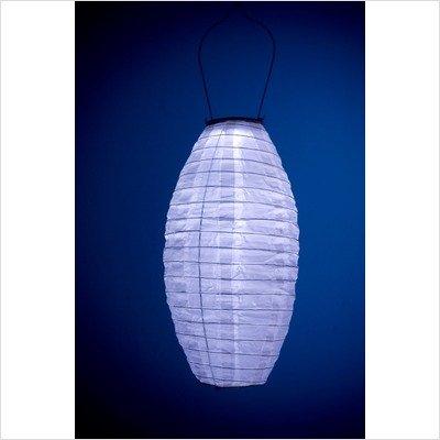 Soji Solar Nylon Lantern Orange w/White LED