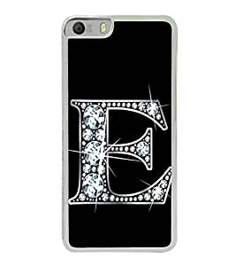Printvisa Alphabet E 2D Hard Polycarbonate Designer Back Case Cover For Micromax Canvas Knight 2 E471