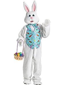 Blue Vest Bunny Mascot Deluxe Adult