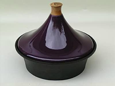 Cast Iron Tagine With Purple Ceramic Lid by Netherton Foundry Shropshire