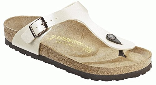 Birkenstock Women's Gizeh Cork Footbed Thong Sandal White 35 M EU