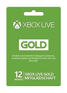 Xbox Live - Gold-Mitgliedschaft 12 Monate [Xbox Live Online Code]