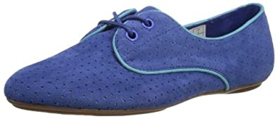 Hush Puppies Chaste, Women's Lace-Up Flats, Blue Perf, 6 UK