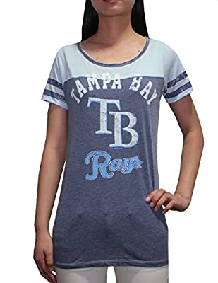 MLB Tampa Bay Rays Womens Crew-Neck T Shirt (Vintage Look)